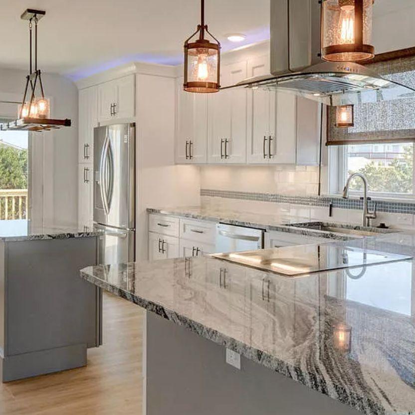 Oak Island NC Kitchen Cabinet and Countertop Renovation