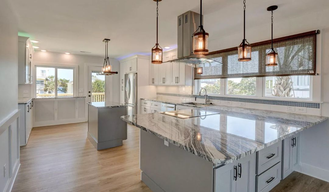 Beachy Kitchen Remodel in Oak Island NC for Cabinets and Countertops