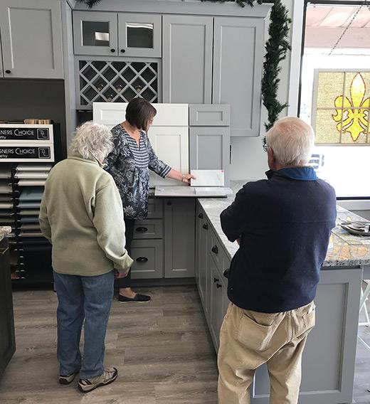 Customer Project Consultation at Brunswick Cabinets and Countertops