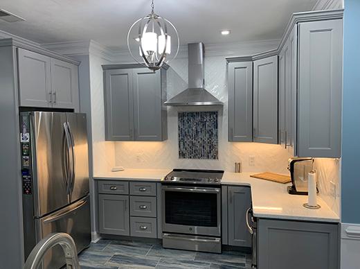 Grey Kitchen Remodel by Designer Chris Gibson